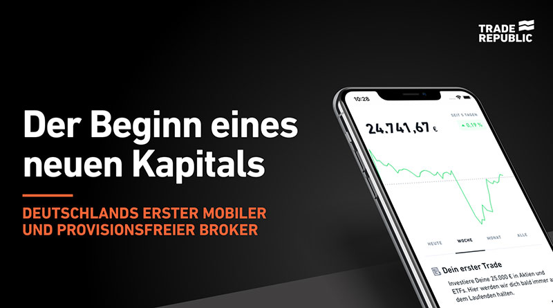 Trade Republic - Deutschlands erster mobiler und provisionsfreier Broker
