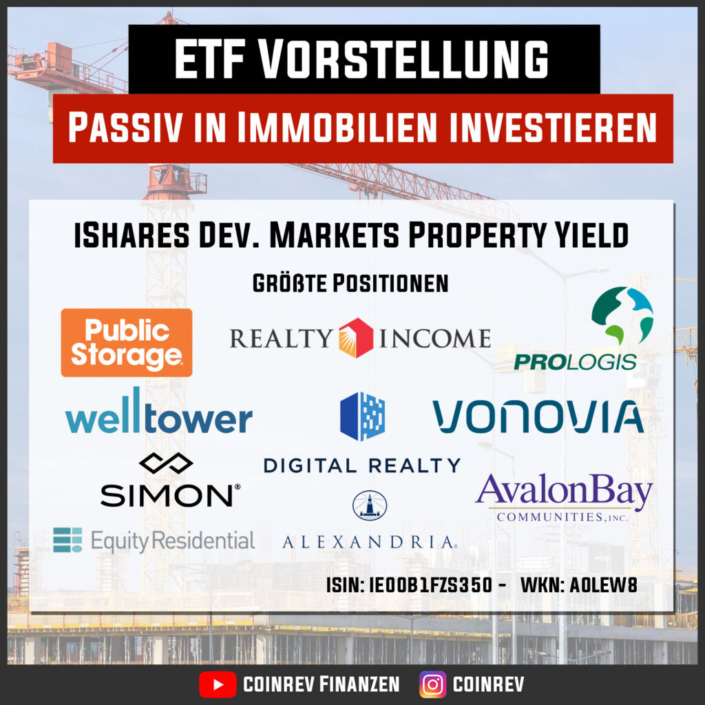 Passiv in Immobilien investieren mit dem iShares Developed Markets Property Yield ETF